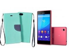 Manager dėklas Sony Xperia M4 Aqua mobiliesiems telefonams mėtinės spalvos