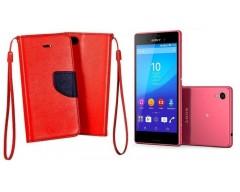 Manager dėklas Sony Xperia M4 Aqua mobiliesiems telefonams raudonos spalvos