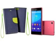 Manager dėklas Sony Xperia M4 Aqua mobiliesiems telefonams tamsiai mėlynos spalvos