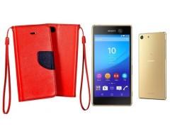 Manager dėklas Sony Xperia M5 mobiliesiems telefonams raudonos spalvos