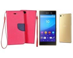 Manager dėklas Sony Xperia M5 mobiliesiems telefonams rožinės spalvos
