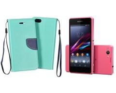 Manager dėklas Sony Xperia Z1 compact mobiliesiems telefonams mėtinės spalvos