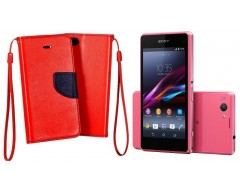 Manager dėklas Sony Xperia Z1 compact mobiliesiems telefonams raudonos spalvos