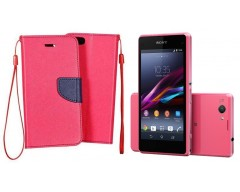 Manager dėklas Sony Xperia Z1 compact mobiliesiems telefonams rožinės spalvos