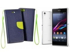 Manager dėklas Sony Xperia Z1 mobiliesiems telefonams mėlynos spalvos