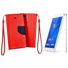 Manager dėklas Sony Xperia Z3 mobiliesiems telefonams raudonos spalvos