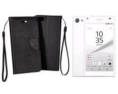 Manager dėklas Sony Xperia Z5 Compact mobiliesiems telefonams juodos spalvos