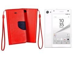 Manager dėklas Sony Xperia Z5 Compact mobiliesiems telefonams raudonos spalvos