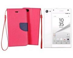 Manager dėklas Sony Xperia Z5 Compact mobiliesiems telefonams rožinės spalvos