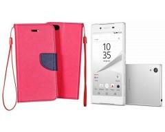 Manager dėklas Sony Xperia Z5 mobiliesiems telefonams rožinės spalvos