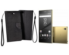 Manager dėklas Sony Xperia Z5 Premium mobiliesiems telefonams juodos spalvos