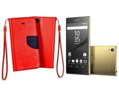 Manager dėklas Sony Xperia Z5 Premium mobiliesiems telefonams raudonos spalvos