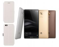 Slim Diary dėklas Huawei Mate 8 mobiliesiems telefonams baltos spalvos