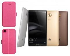 Slim Diary dėklas Huawei Mate 8 mobiliesiems telefonams rožinės spalvos