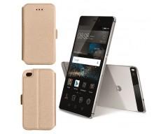 Slim Diary dėklas Huawei P8 mobiliesiems telefonams aukso spalvos