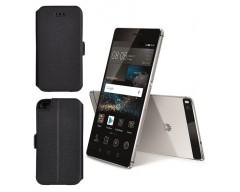 Slim Diary dėklas Huawei P8 mobiliesiems telefonams juodos spalvos