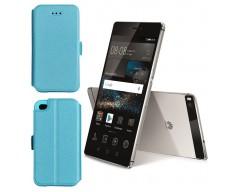 Slim Diary dėklas Huawei P8 mobiliesiems telefonams žydros spalvos