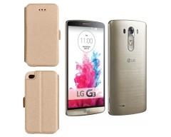 Slim Diary dėklas LG G3 mobiliesiems telefonams aukso spalvos