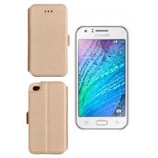 Slim Diary dėklas Samsung Galaxy J1 mobiliesiems telefonams aukso spalvos Plungė | Klaipėda | Telšiai