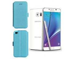 Slim Diary dėklas Samsung Galaxy Note 5 mobiliesiems telefonams žydros spalvos