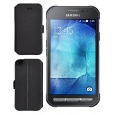 Slim Diary dėklas Samsung Galaxy Xcover 3 mobiliesiems telefonams juodos spalvos