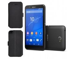 Slim Diary dėklas Sony Xperia E4 mobiliesiems telefonams juodos spalvos
