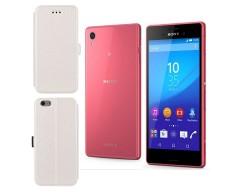 Slim Diary dėklas Sony Xperia M4 Aqua mobiliesiems telefonams baltos spalvos