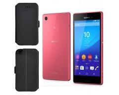 Slim Diary dėklas Sony Xperia M4 Aqua mobiliesiems telefonams juodos spalvos