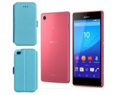 Slim Diary dėklas Sony Xperia M4 Aqua mobiliesiems telefonams žydros spalvos