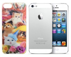 3D holograminis dėklas nugarėlė Apple iPhone 5 5s SE mobiliesiems telefonams Cats