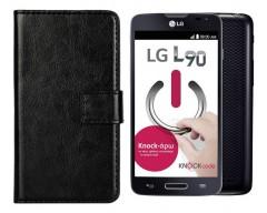 Diary Mate dėklas LG L90 mobiliesiems telefonams juodos spalvos