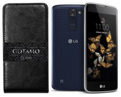 Gotamo I-gravity natūralios odos dėklas LG K8 mobiliesiems telefonams juodos spalvos