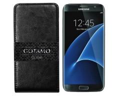 Gotamo I-gravity natūralios odos dėklas Samsung Galaxy S7 mobiliesiems telefonams juodos spalvos