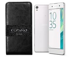 Gotamo I-gravity natūralios odos dėklas Sony Xperia XA mobiliesiems telefonams juodos spalvos