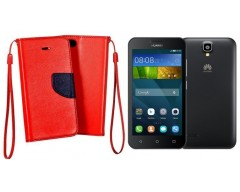 Manager dėklas Huawei Y5 mobiliesiems telefonams raudonos spalvos