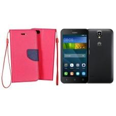 Manager dėklas Huawei Y5 mobiliesiems telefonams rožinės spalvos