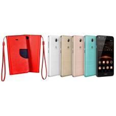 Manager dėklas Huawei Y5II mobiliesiems telefonams raudonos spalvos