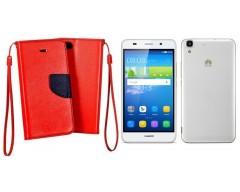 Manager dėklas Huawei Y6 mobiliesiems telefonams raudonos spalvos