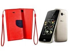 Manager dėklas LG K5 mobiliesiems telefonams raudonos spalvos