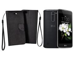 Manager dėklas LG K7 mobiliesiems telefonams juodos spalvos