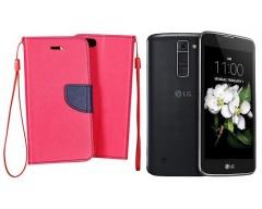 Manager dėklas LG K7 mobiliesiems telefonams rožinės spalvos