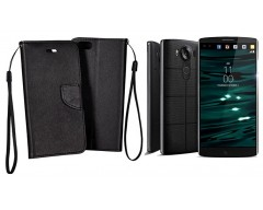 Manager dėklas LG V10 mobiliesiems telefonams juodos spalvos