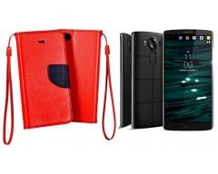 Manager dėklas LG V10 mobiliesiems telefonams raudonos spalvos