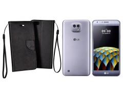 Manager dėklas LG X cam mobiliesiems telefonams juodos spalvos