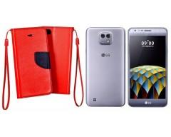 Manager dėklas LG X cam mobiliesiems telefonams raudonos spalvos