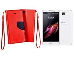 Manager dėklas LG X screen mobiliesiems telefonams raudonos spalvos