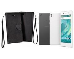 Manager dėklas Sony Xperia E5 mobiliesiems telefonams juodos spalvos