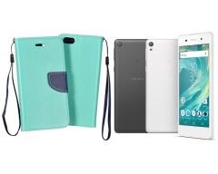 Manager dėklas Sony Xperia E5 mobiliesiems telefonams mėtinės spalvos
