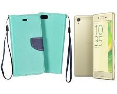 Manager dėklas Sony Xperia X mobiliesiems telefonams mėtinės spalvos