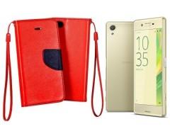 Manager dėklas Sony Xperia X mobiliesiems telefonams raudonos spalvos